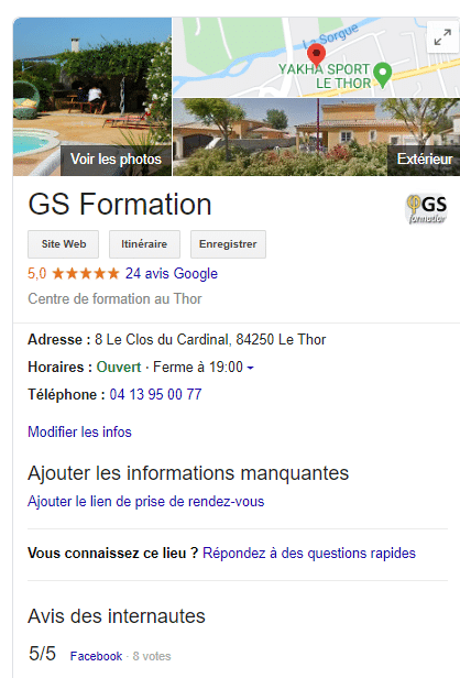 GS Formation Google my Business